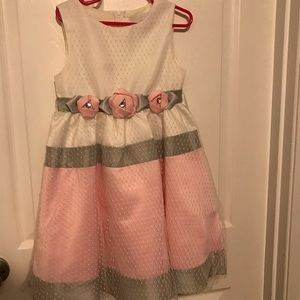 Girls - Dress (pink, white and gray)
